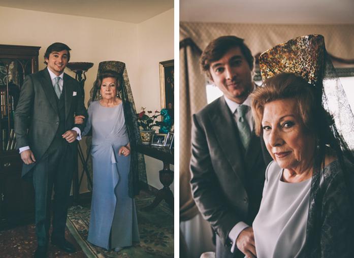 Fotografia del novio y la madrina de la boda