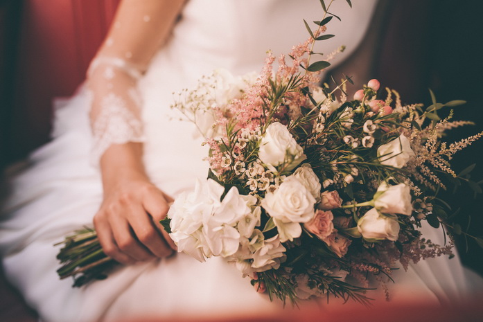 Precioso el ramo de flores de la novia