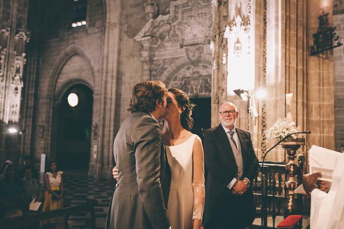 Beso de boda