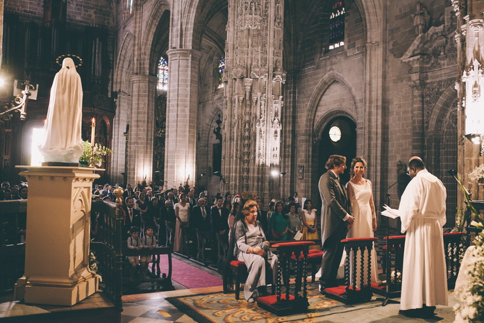 Foto de boda en la iglesia san miguel en jerez de la frontera