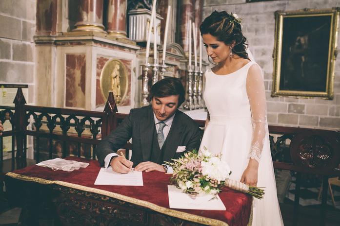 Firma de los recien casados