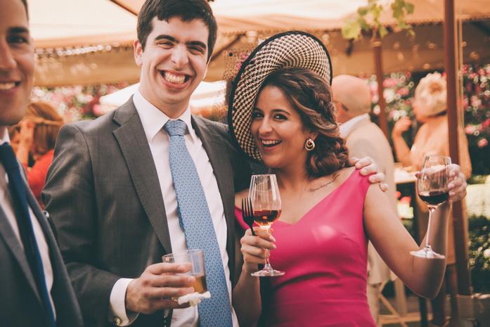 Foso de los invitados de la boda