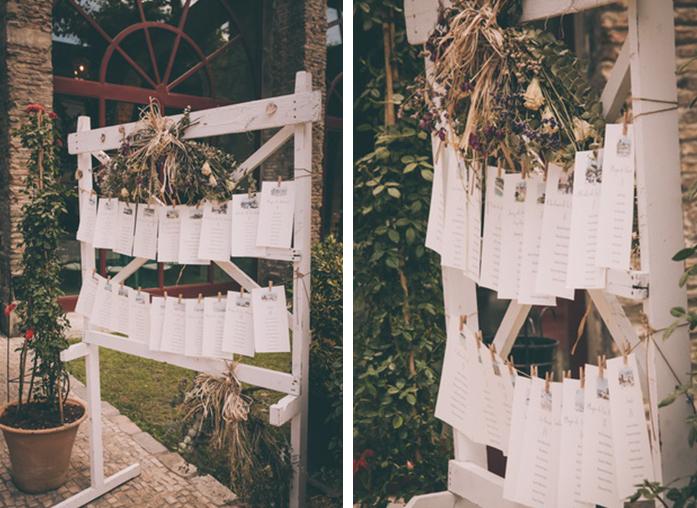 foto de la decoracion de la boda