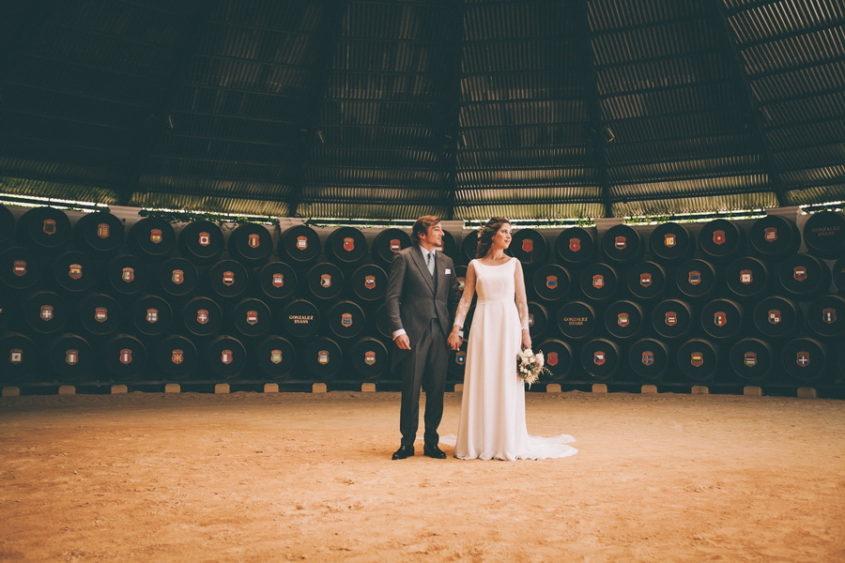 Fotografia de la boda en la bodega